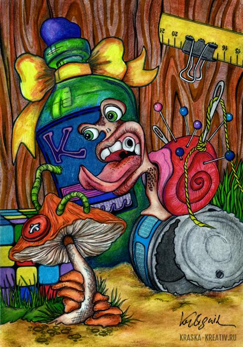 традиционный арт - рисунок / иллюстрация © Красных Катерина