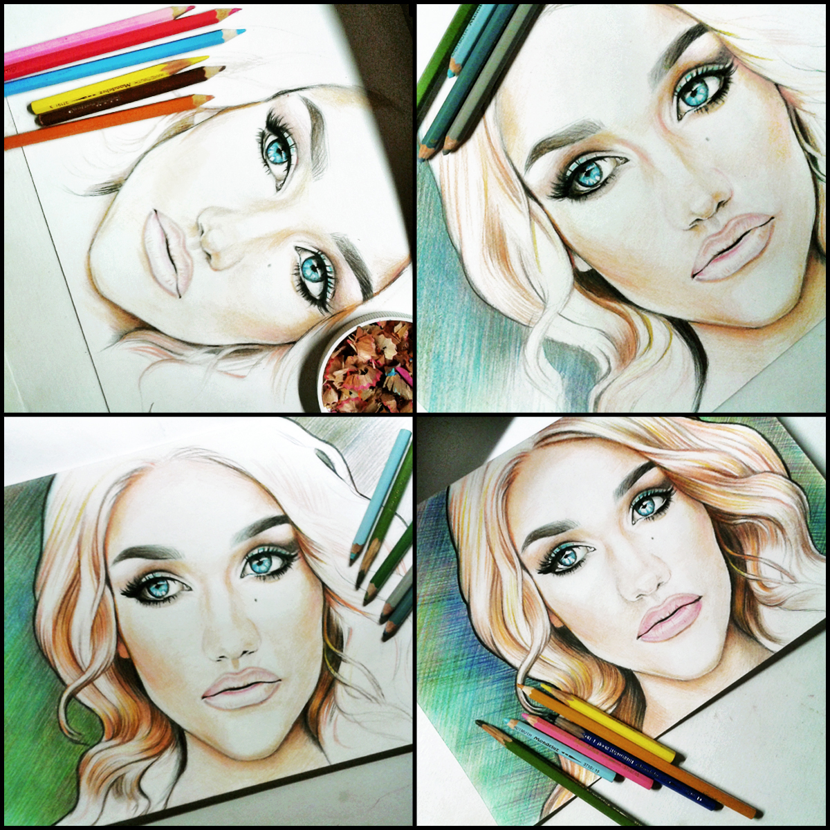 портрет - рисунок карандашими (в процессе)