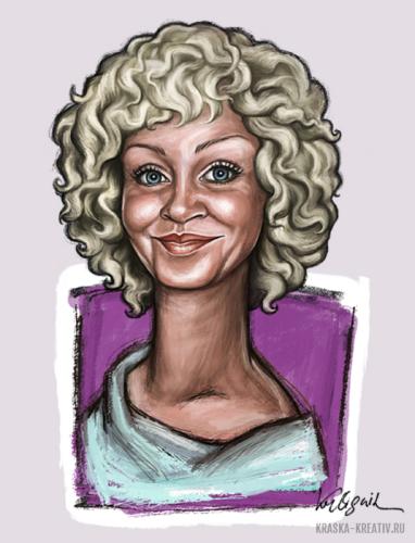 шаржевая иллюстрация, мультяшный карикатурный скетч-арт портрет, компьтерная графика © Красных Катерина