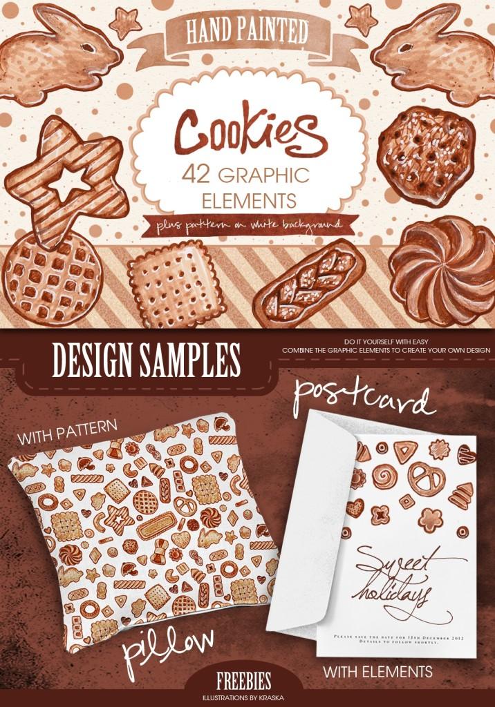 клипарт, скачать бесплатно печеньки PNG, паттерн из печенек, скрап-набор, скрапбукинг, графические элементы, нарисованные от руки печенюшки, на прозрачном фоне, заготовки для фотошопа, нарисованная выпечка, вкусняшки, для дизайна