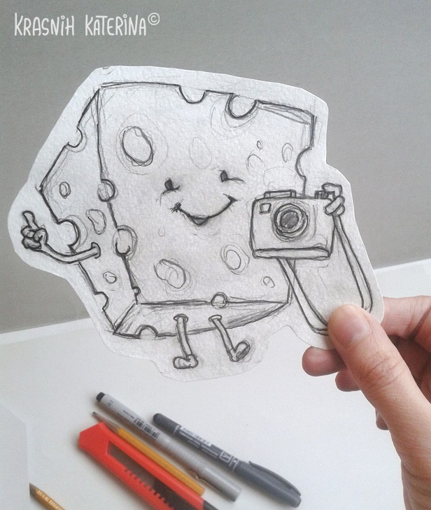 SAY CHEESE (sketch pencil) by Krasnih Katerina