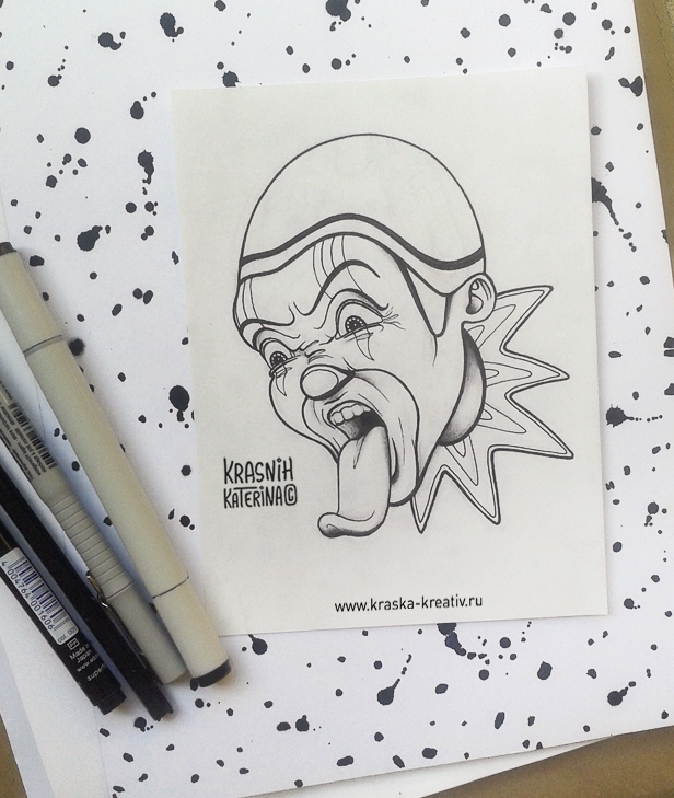 sketch «Crazy Clown» by Krasnih Katerina