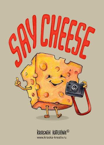 illustration - Say Cheese - by Krasnih Katerina