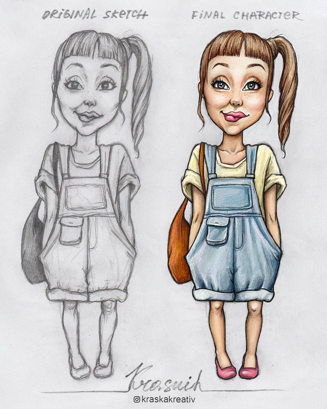 character design illustration by Krasnih Katerina