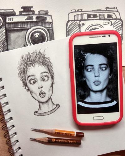 sketch hand drawing illustration by Krasnih Katerina