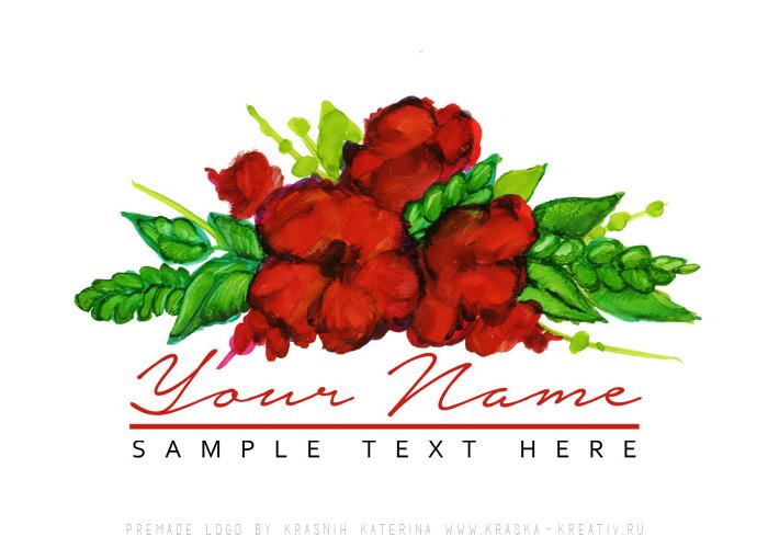 купить готовый логотип, премейд брендинг, красивый и доступный цветочный дизайн лого для личного бренда и бизнеса