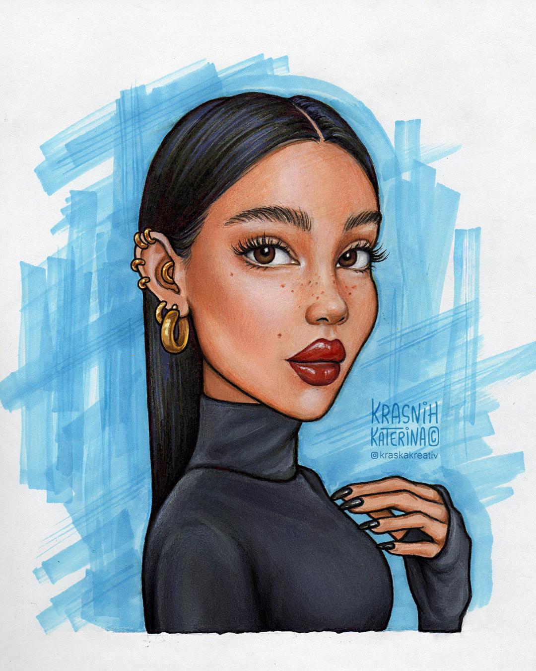 мультяшный портрет стилизация иллюстрация индивидуальный персонаж портреты в мультяшном стиле на заказ